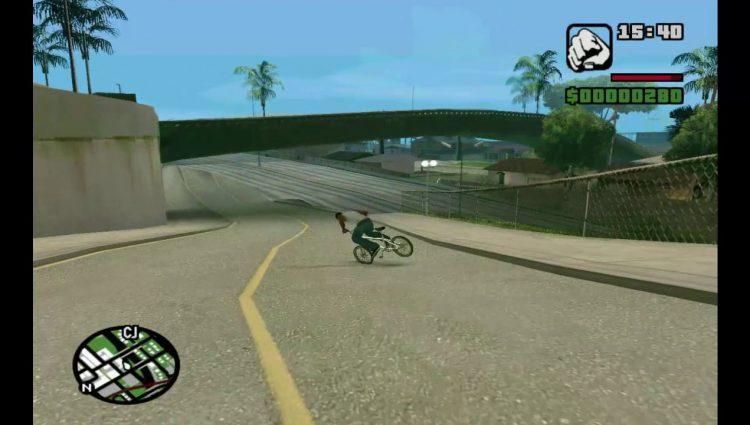 Gta San Andreas'ta Mükemmel Bisiklet Sürüşü