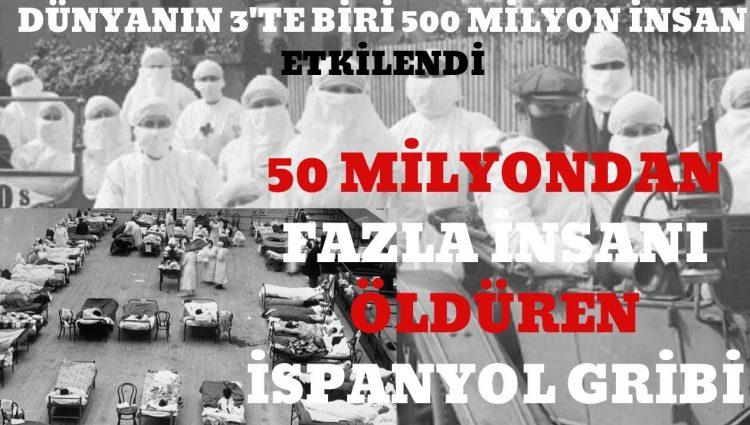 500 MİLYON İNSANI ETKİLEYEN 50 MİLYONDAN FAZLA İNSANI ÖLDÜREN 1918'DEKİ İSPANYOL GRİBİ
