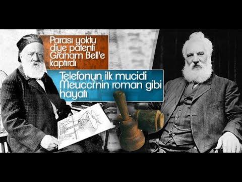 Telefonun iki mucidi Graham Bell ve Antonio Meucci